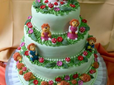 menyasszonyi torta marcipánból