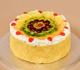 Túró torta gyümölccsel